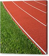 Running Track Canvas Print