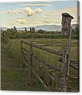 Rural Birdhouse On Fence Canvas Print