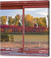 Rural Country Autumn Scenic Window View Canvas Print