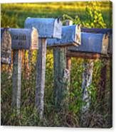 Rural Mail Boxes Canvas Print