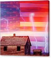 Rural Rustic America Storm Canvas Print