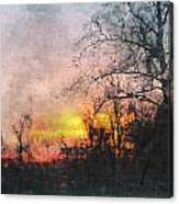 Rural Sunset  Art Canvas Print
