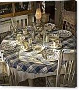 Rural Table Setting For Four No.3121 Canvas Print