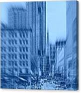 Rush Hour In Vancouver Canvas Print