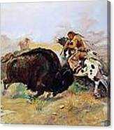 Russell: Buffalo Hunt Canvas Print