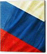 Russia Flag Canvas Print