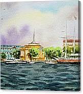 Russia Saint Petersburg Neva River Canvas Print