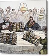 Russian Cartoon, 1854 Canvas Print
