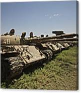 Russian T-62 Main Battle Tanks Rest Canvas Print