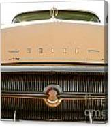 Rusted Antique Buick Car Brand Ornament Canvas Print