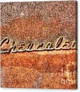Rusted Antique Chevrolet Logo Canvas Print