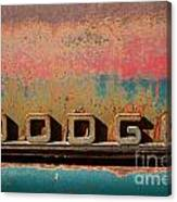 Rusted Antique Dodge Car Brand Ornament Canvas Print