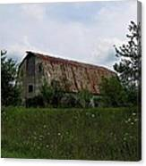 Rusted Barn Roof Canvas Print