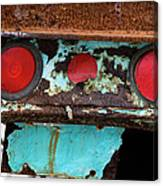 Rusted Blue Taillight Canvas Print