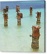 Rusted Iron Pier Dock Canvas Print