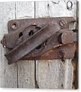 Rusted Latch Canvas Print