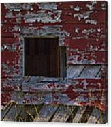 Rustic Barn Red Peeling Paint Canvas Print
