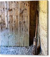 Rustic Door And Broom Canvas Print