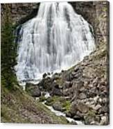 Rustic Falls Yellowstone Canvas Print
