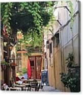 Rustic Greek Cafe Canvas Print