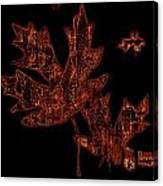 Rustic Leaves Canvas Print