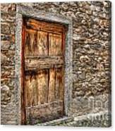 Rustic Stone House With Old Canvas Print