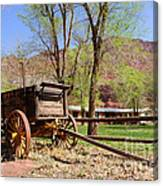 Rustic Wagon At Historic Lonely Dell Ranch - Arizona Canvas Print