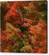 Rustling Autumn Leaves Canvas Print