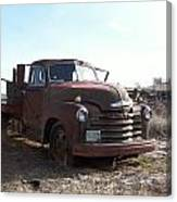 Rusty Abandoned Chevy Truck Canvas Print