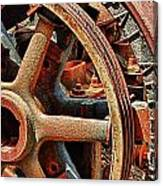 Rusty Flywheel  Canvas Print