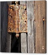 Rusty Hinge Canvas Print