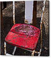 Rusty Metal Chair Canvas Print
