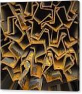 Rusty Fenceposts Canvas Print