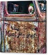 Rusty Truck Door Canvas Print