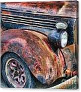 Rusty Truck Hood And Fender Canvas Print