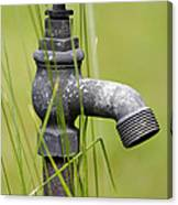 Rusty Water Supply Point Canvas Print