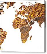 Rusty World Map Canvas Print