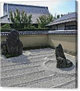 Ryogen-in Raked Gravel Garden - Kyoto Japan Canvas Print