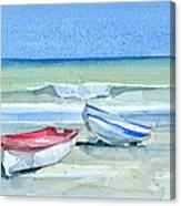 Sabinillas Fishing Boats Canvas Print