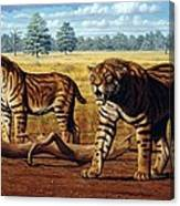 Sabre-toothed Cats, Artwork Canvas Print