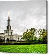 Sacramento Temple Landscape Canvas Print