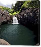 Sacred Pool And Waterfall Canvas Print