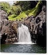 Sacred Pool Waterfall Canvas Print