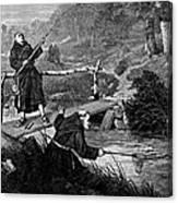 Sadler: Fishing, 1875 Canvas Print
