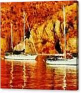 Safe Habor At Sunset Canvas Print