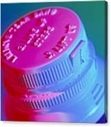 Safety Cap On A Medicine Bottle Canvas Print
