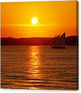 Sail Off Into The Sunset Canvas Print