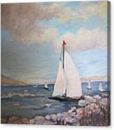 Sailboating In The Carribean Canvas Print