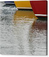 Sailboats In Primary Colors Canvas Print