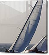 Sailboats Race On San Francisco Bay Canvas Print